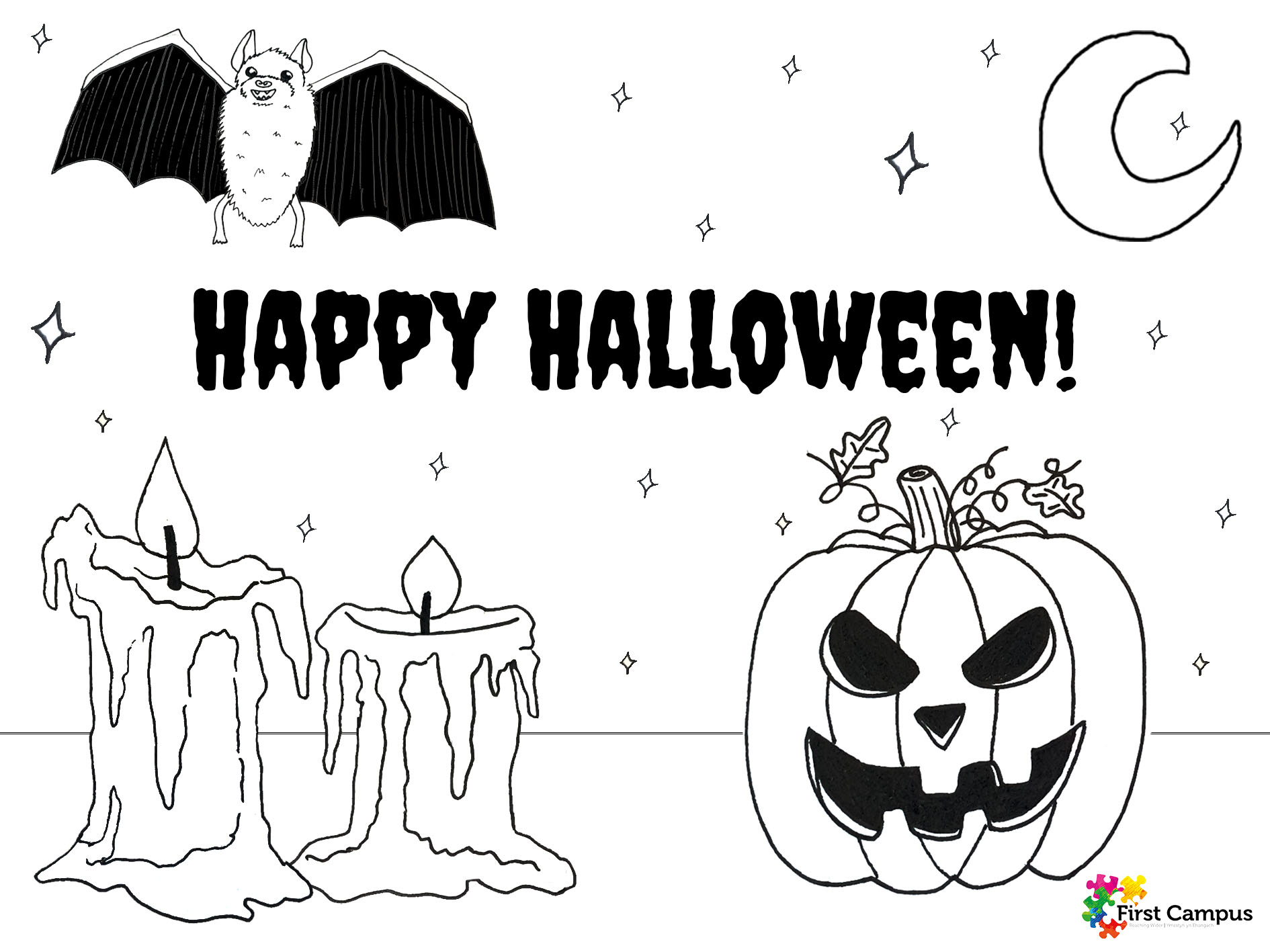 First Campus Half Term Halloween Colouring Challenge