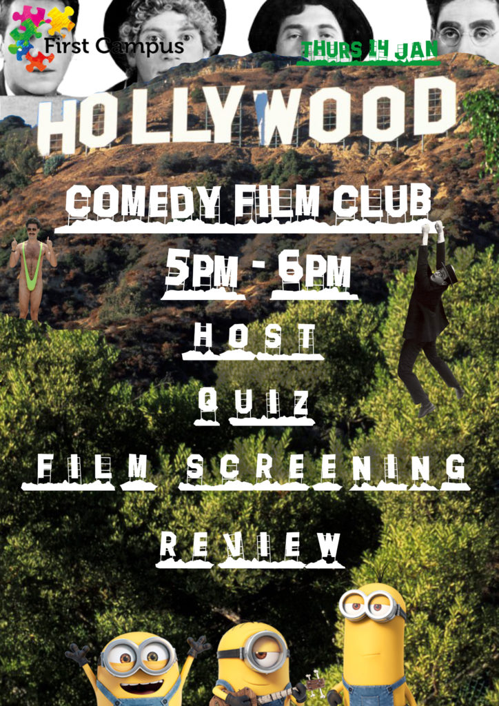 Confident Futures Comedy Film Club poster