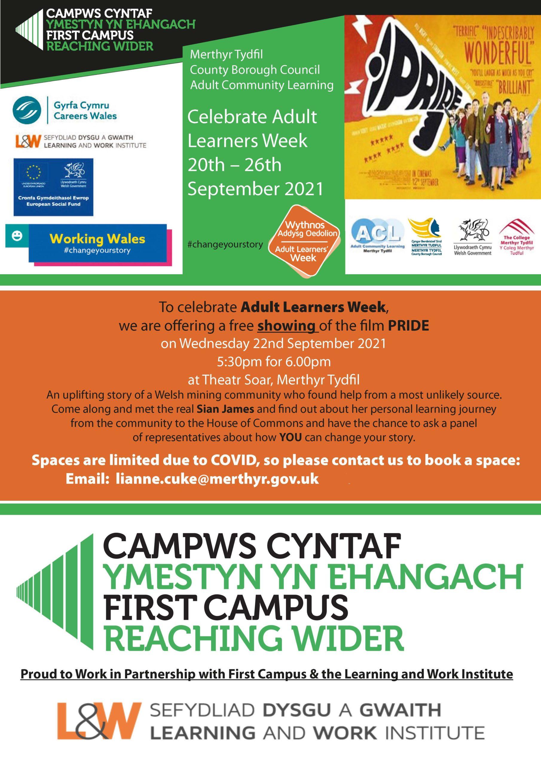 Flyer Pride Adult Learning Week